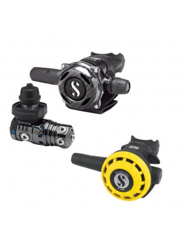 Scubapro MK25 EVO+A700 Carbon Black Tech+R195 Octo